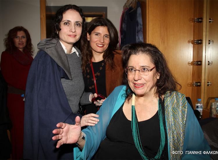(Από δεξιά) Μαρία Φαραντούρη, Μπέττυ Χαρλαύτη, Μίνα Μαύρου