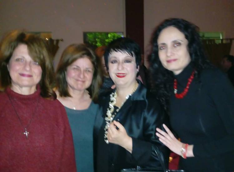 Από αριστερά: Άννα Γαβαλά (Πρόεδρος Ένωσης Καταπολιανών Αμοργού), Σοφία Γαβαλά, Σόνια Θεοδωρίδου, Μίνα Μαύρου