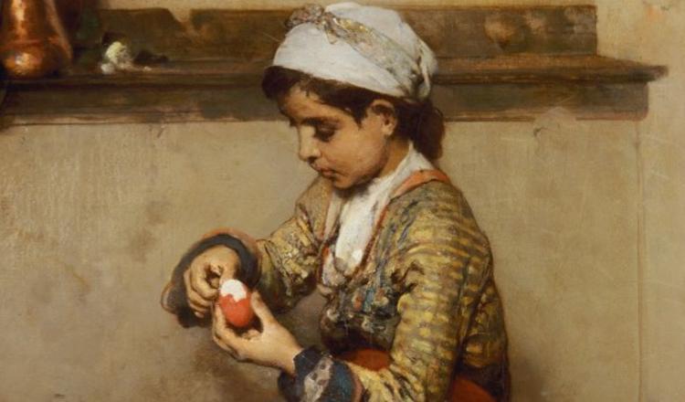 Mέρος του πίνακα «Το ωόν του Πάσχα» του Νικηφόρου Λύτρα