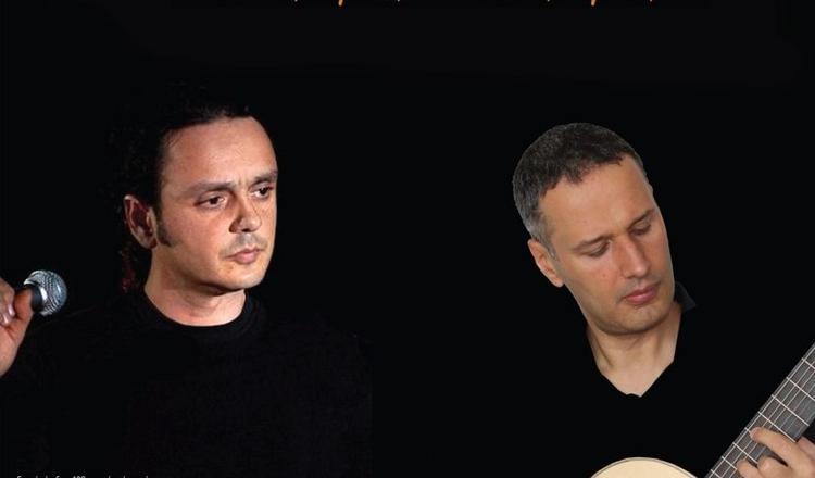 Ο Βασίλης Γισδάκης και ο Μανόλης Ανδρουλιδάκης στη «Σφίγγα»