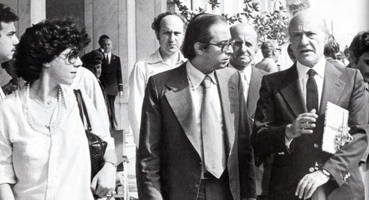 Η Ηρώ Σγουράκη, ο Γιώργος Σγουράκης και ο Οδυσσέας Ελύτης.
